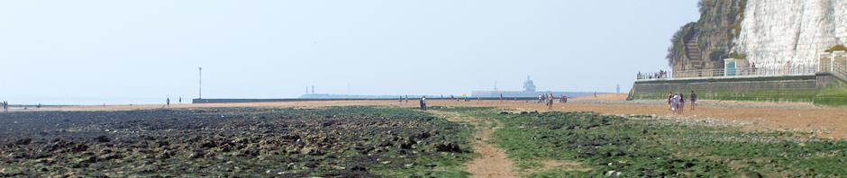 Walk to Ramsgate along shore, Ruth's coastal walk.