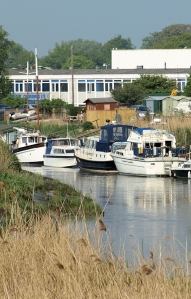 Sandwich Marina, Ruth's walk around the Coast, Kent.