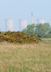 Richborough Power Station, Ruths coast walk in Kent.