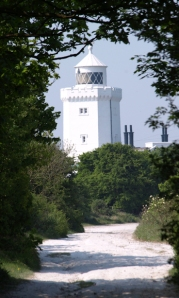 Approaching light house, South Foreland, Kent, Ruth's coastal walk.