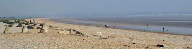 Sandwich Flats, Ruth's coastal walk, Saxon Shore Way.
