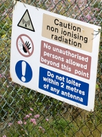 Danger, non-ionising radiation. Palmarsh Ranges, Ruth's walk.
