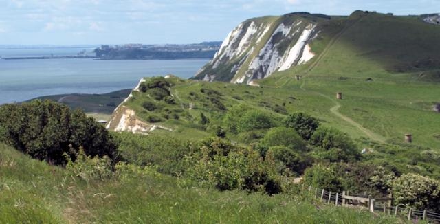 White Cliffs, Dover - towards Folkestone. Ruth's coastal walk.