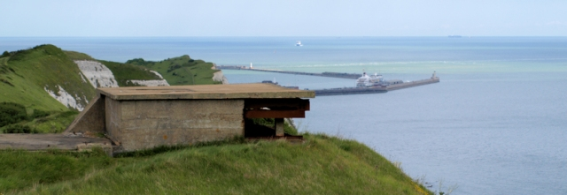WW1 coastal defences and Dover Harbour, Ruth's coastal walk.