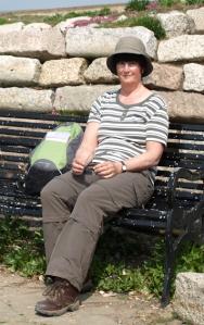 Me at Sandown Castle, Deal, Ruth's coastal walk.