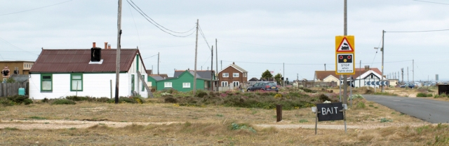 Dungeness buildings. Ruth's walk around the coast. Kent.