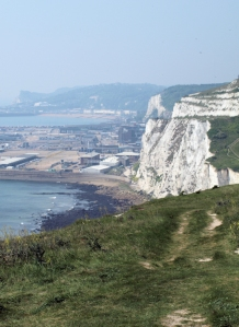 Dover from cliff top, Ruth's coastal walk.