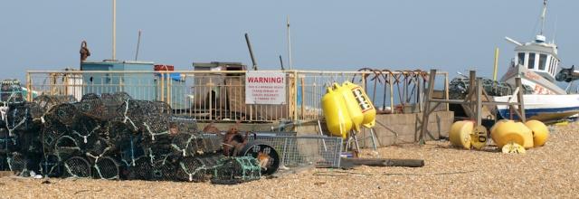 Deal, a working beach. Ruths coastal walk through Kent.