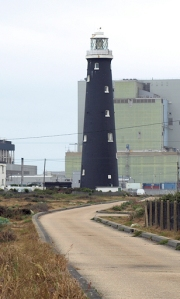 Lighthouse and power station. Ruth's coastal walk, Dungeness.