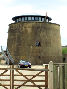 Martello Tower, Dymchurch. Ruth's coastal walk.