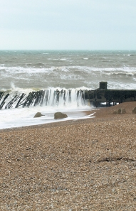 Crashing waves, Dungeness coast. Ruth's coast walk.