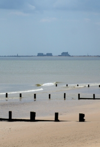 Dungeness nuclear power station, from St Mary's Bay, Ruths coastal walk.