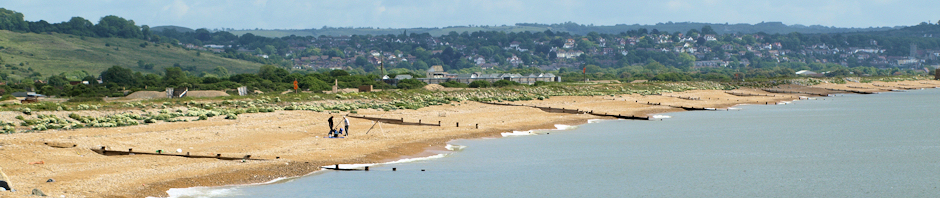 Looking back to Hythe, Ruth's coastal walk.
