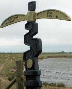 Kent - Sussex border, near Lydd, Ruth's coastal walk