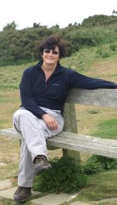Resting Ruth on her walk around the coast, Sussex.