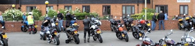 Motorbikes in Rye, Sussex. Ruth's coastal walk