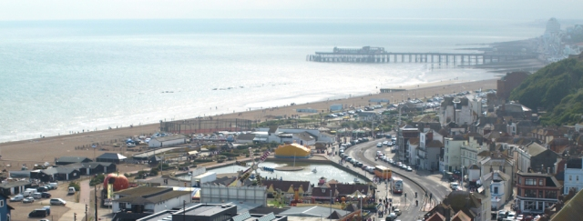 Hastings, from the cliff, Ruths coastal walk.