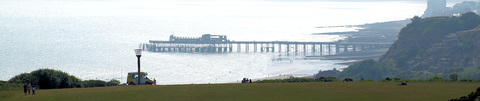 Header, Hastings pier, Ruth's coastal walk.