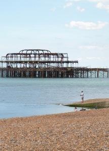 Brighton's other Pier - Ruths walk around the coast, in Sussex