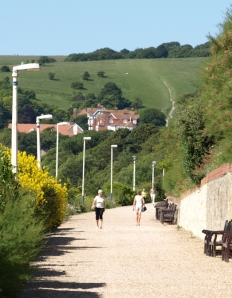 West side of Eastbourne, Ruth's coastal walk.