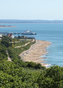 View over Eastbourne, Cow Gap, Ruth's walk around the coast.