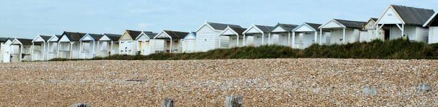 Beach Huts, near Bexhill, Sussex. Ruth's coast walk.