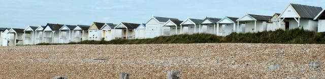 Beach Huts, near Bexhill, Sussex. Ruth's coast walk.
