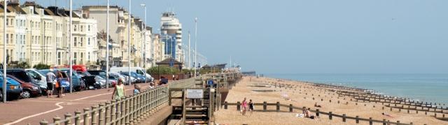 Promenade at Hastings - Ruth walks the coast, Sussex