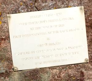 Bexhill, motor racing plaque - Ruths coastal walk