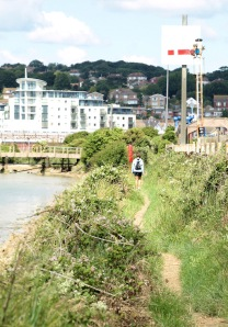 Walking towards Newhaven, Ruth's coastal walk - Sussex Ouse Valley Way