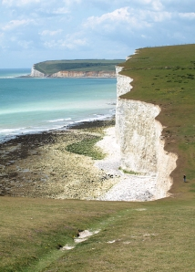 Walking over Seven Sisters, Ruth's coastal walk, Sussex.