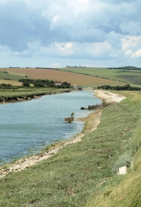 Towards Exceat Bridge, Seven Sisters' Country Park, Ruth's walk around the coast.