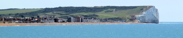 View back to Seaford, Ruths coast walk.