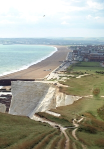 View towards Seaford, Ruth's coastal walk in Sussex