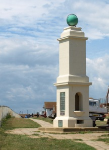 Meridian Marker, Peacehaven, Sussex, Ruth walks around the coast.