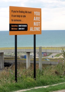 Samaritan sign - Brighton Marina - Ruth's coastal walk