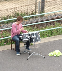 Drummer, Brighton sea front - Ruth's coastal walk