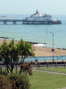 Eastbourne Pier, Ruth on her walk around the coast.