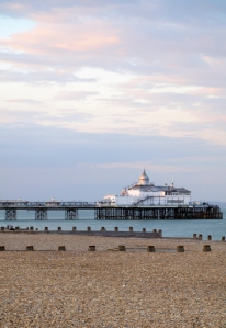 Sunset, Eastbourne Pier - Ruths coastal walk.