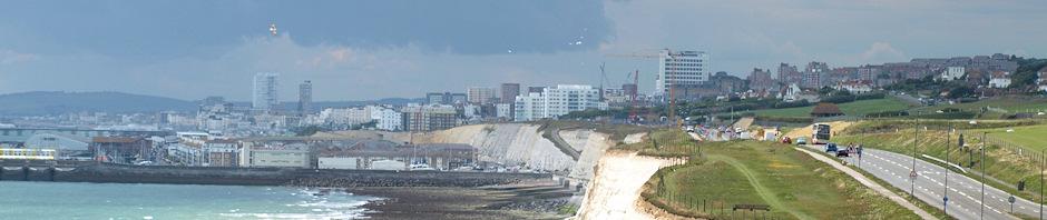 Heading towards Brighton, Ruth's coastal walk