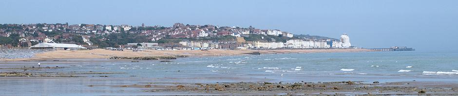 Hastings view across bay, Ruth's coastal walk