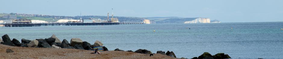 header, Brighton and Seaford beyond, Ruth's coastal walk