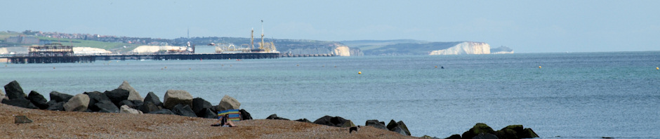 header, Brighton and Seaford beyond, Ruth's coastal walk