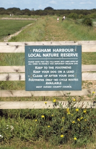 Entrance gate, Pagham Harbour, Ruth's coastal walk.