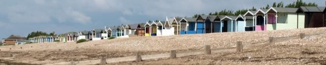 Beach Huts, Rustington, Littlehampton, Sussex. Ruth walks the coast.