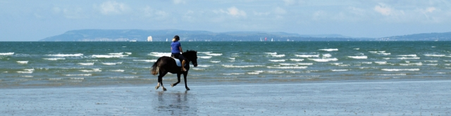 Horse riding on the beach, East Wittering, Ruth's coastal walk.