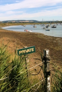 Private marina area, Ruth walks around the coast through Sussex.