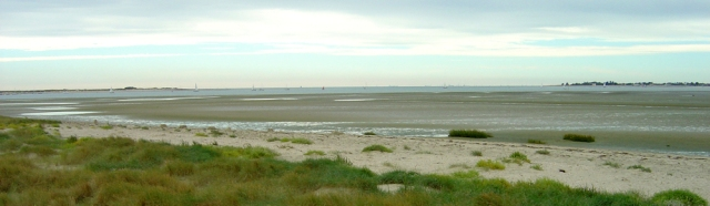 Chichester Harbour Mouth - from Longmere Point, Ruth walks round the coast.