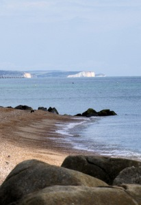 View from nudist beach, across to Seven Sisters, Ruth's coastal walk, Brighton.