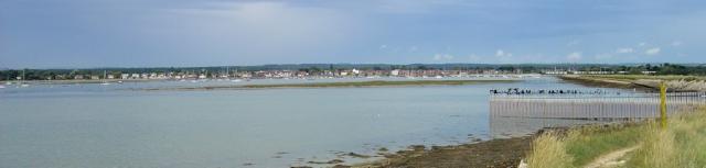 towards Emsworth, Thorney Island, Ruth walks round Chichester Harbour.